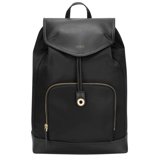 15 inch Newport Drawstring Backpack Black