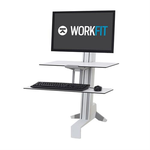 Ergotron WorkFit-S Single HD Workstation with Worksurface white