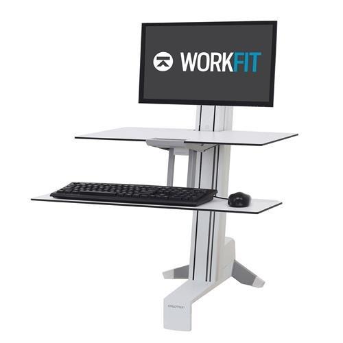 Ergotron WorkFit-S Single LD Workstation with Worksurface white