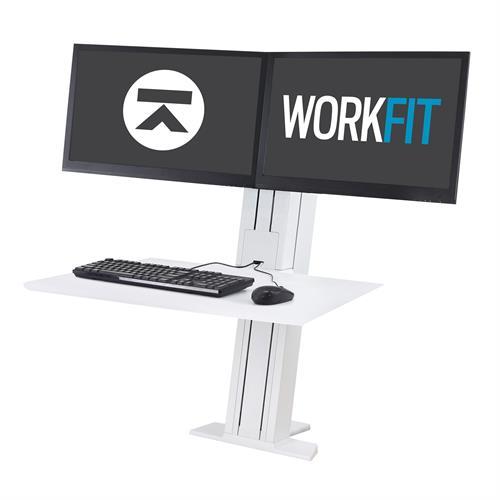 Ergotron WorkFit-SR Dual Monitor, Standing Desk Workstation white