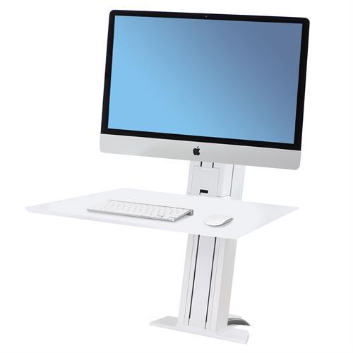 Ergotron WorkFit-SR Hvy Monitor Sit-Stand Desktop Workstation white