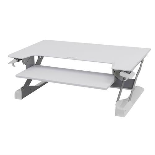 Ergotron WorkFit-TL Standing Desk Workstation white