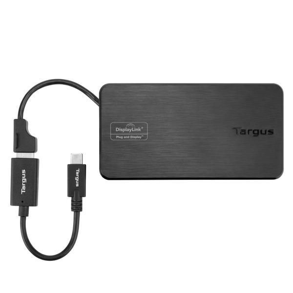 Targus USB 3.0 & USB-C Dual Video 1K-2K Travel Docking Station